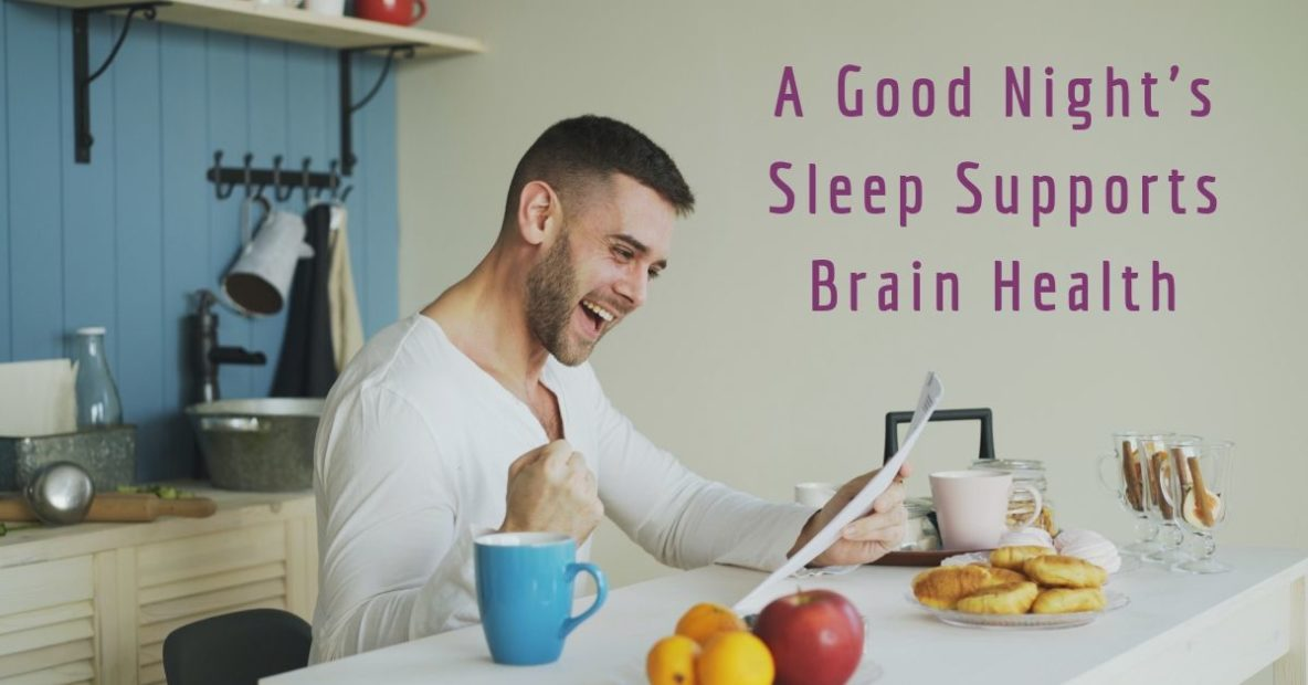 A Good Night's Sleep Supports Brain Health